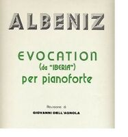 Albeniz: Evocation Für Klavier Von Iberia - Curci