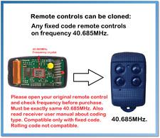 Fixed code Universal Garage Door/Gate Remote Control Duplicator 40.685MHz.