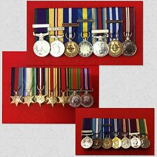 7 x Supplied & Court Mounted Miniature Medal Group Choose Your Miniature Medals