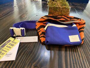 Herschel Tiger Orange and Blue Fourteen Fanny Pack Hip Belt RARE! New