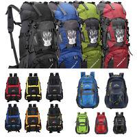 45/55L Backpack Hiking Bag Outdoor Camping Travel Waterproof Pack Mountaineering