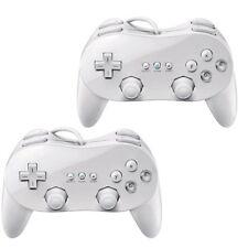 2x CLASSIC PRO Wii CONTROLLER PRO JOYPAD for NINTENDO REMOTE white
