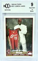 2003-04 Topps LeBron James #221 Rookie RC BCCG 9 NM-MT