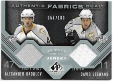 2007-08 UD Sp Game Used Hockey ALEXANDER RADULOV / DAVID LEGWAND Jersey 057/100