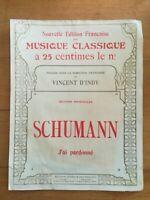 Ancienne Partition - J'ai pardonné - Schumann
