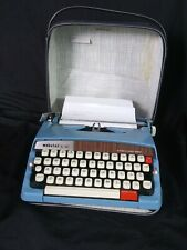 Vtg Brother Webster Manual Typewriter XL-747 Portable w/ Case -               C5