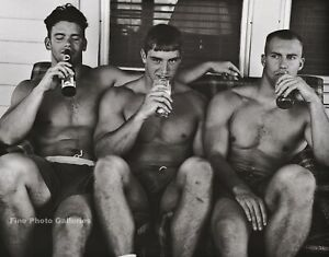 1996 Vintage BRUCE WEBER Semi Nude Men Road Trip Buddy Photo Engraving Art 11X14