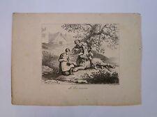 Lithographie, Le Lion amoureux - Fable de la Fontaine, C. Vernet, 1825