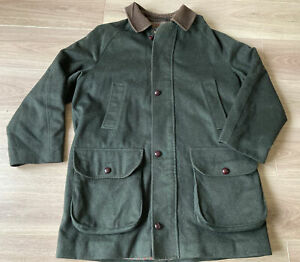 Barbour Loden A1155 Jacket Green Wool Corduroy Collar See Description (Size C40)