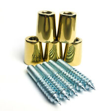 Gold Chrome Ferrules + Hanger Bolts for Tap Handles (5) Pack - Free Shipping