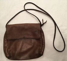 SVEN BERKELEY VINTAGE BROWN LEATHER FLAP CROSS MESSENGER BODY PURSE MADE IN USA