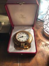 vintage cartier 24 karat gold plated desk clock