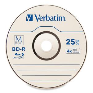 5 pack M DISC VERBATIM 25GB BD-R 4X Branded Logo Disc - Jewel Case