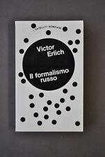 Critica Letteraria Storia Teoria Formalismo Russo Erlich Bompiani Milano 1973