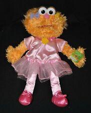 Peluche doudou marionnette Zoé orange Sesame Street GUND rose 35 cm 100% NEUF