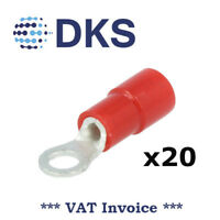 0.5-1.0mm Red M3 Ring Crimp Connector Terminal Insulated QTY=20 000819