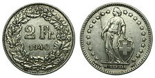 Switzerland - 2 FRANCS 1940 - Silver