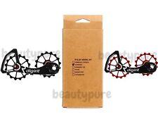 Digirit Ultegra 6800 Stainless Oversized Pulley System Wheel Kit Black & Red