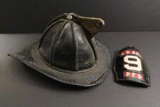 Cairns Leather Helmet Firefighter Fireman Philadelphia Fire Dpt PFD