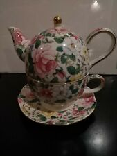 Tea For One Pink Floral Chinz Design A Special Place 2001
