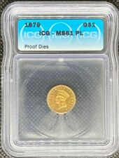 1879 INDIAN PRINCESS GOLD DOLLAR $1 ICG MS61 PL (PROOF DIES) RARE COIN - T-3 LH