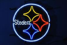 "Pittsburgh Steelers Neon Light Sign 17""x17"" Beer Cave Gift Bar Artwork Glass"