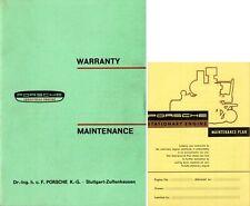 PORSCHE Industrial Stationary ENGINE 1960 Warranty & Maintenance Manual ENGLISH