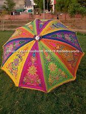"""Indian Garden Parasol Outdoor Peacock Flower Cotton Sun Shade Patio Umbrella 72"""""""