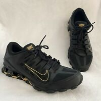 Nike Mens Reax 8 TR Sneakers 621716-020 Black & Gold Lace Up Low Top Size 13