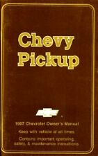 oem maintenance owner's manual bound for chevy truck c/k pickup 1987