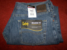 Mens Size W 38 X L30 Lee blue jeans relaxed fit straight leg