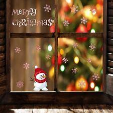Fenstersticker Wandsticker Aufkleber Schneemann Weihnachten Fenster Wand Deko