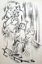 """Max Unold: """"Die Strasse"""" 1920 Original-Lithographie, Pfister """"Neue Sachlichkeit"""""""