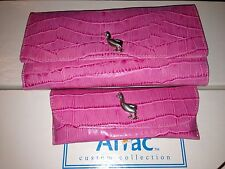 Karen Callan Aflac Pink Wallet And Glasses Case Duck Wallet