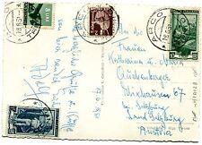 1951 DEM.£.2 + £.8 + LAV.£.10 + £.15 ann.ARCO, 18.06.51 per l'AUSTRIA (251028)