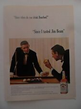 1964 Print Ad Jim Beam Bourbon Whiskey ~ Pool Table Billiards
