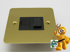 VARILIGHT Ultraflat 13 Amp Switched Fuse Spur Brass **COMBINED POSTAGE DISCOUNT