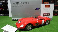 MASERATI 300 S Cabriolet  24h LE MANS 1958 rouge #1 au 1/18 CMC M-108 voiture
