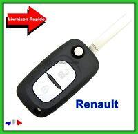 Coque Télécommande Plip Clé Renault 2 Bouton Clio Kangoo Master + Lame vierge
