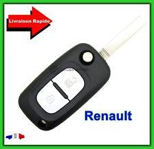 Coque Télécommande Plip Clé Renault 2 Bouton Trafic Vivaro + Lame vierge