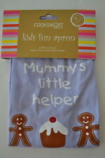 COOKSMART KIDS, CHILDRENS APRON, MUMMY'S LITTLE HELPER, AGES 4-7 PURPLE HOLIDAY