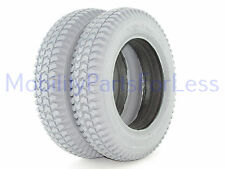 Pair of 3.00-8 Solid Foam Filled Tires - Knobby Tread - Primo Powertrax