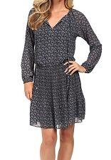 NWT MSRP $155 - MICHAEL KORS Mini Woodbrook Paisley Dress, New Navy, Size LARGE