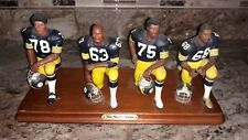 The Steel Curtain Pittsburgh Steelers by the Danbury Mint 2002 ~ Damaged