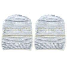 2x Unisex Women Men Knit Baggy Beanie Beret Winter Warm Oversized Ski Cap Hat TR