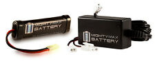 Mighty Max 9.6V 1600mAh Flat NiMH Replaces SRC AK-47 Spetsnaz AEG + 9V Charger
