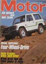Motor magazine 10/3/1984 featuring Toyota road test, Land Rover, Mercedes
