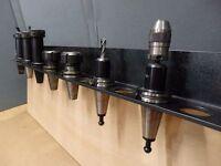 Lot of 4: Mill Tool Holder CNC Milling Machine  BT 40 Collet Rack, Black, NEW!