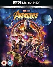 Avengers Infinity War Blu-ray 4k 2018 Region UK Fast Delivery 1 Day