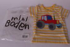 NWT Mini Boden 6-12 months Tractor applique shirt yellow stripe t-shirt